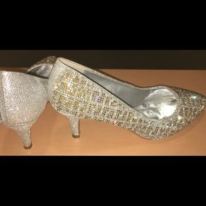 Sparkly Crystal Beaded Heels